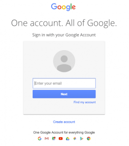 Gmail Scam Login Page Example